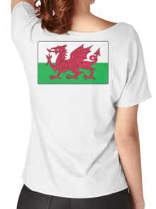 WALES, Welsh, Cymru, Welsh Flag, Pure & simple. Red Dragon of Wales Women's Relaxed Fit T-Shirt