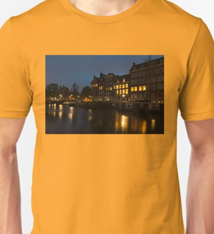 Springtime Amsterdam - Golden Windows In Jordaan Unisex T-Shirt