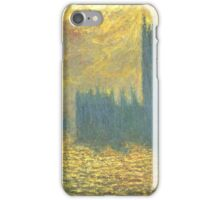 Claude Monet - Parlament in London - Stormy Day iPhone Case/Skin