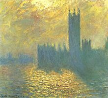 Claude Monet - Parlament in London - Stormy Day by mosfunky
