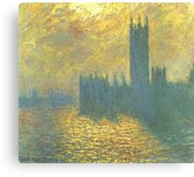 Claude Monet - Parlament in London - Stormy Day Canvas Print