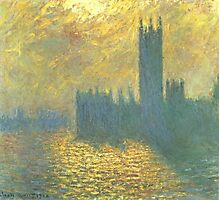 Claude Monet - Parlament in London - Stormy Day Photographic Print