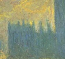 Claude Monet - Parlament in London - Stormy Day Sticker