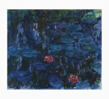 Claude Monet - Nympheas reflets de saule Kids Tee