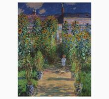 Claude Monet - Monet's Garden at Vetheuil One Piece - Short Sleeve