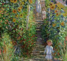 Claude Monet - Monet's Garden at Vetheuil Sticker