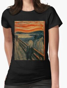 Edvard Munch - The Scream Womens Fitted T-Shirt