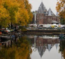 Autumn in Amsterdam - Colorful Symmetrical Stillness Sticker