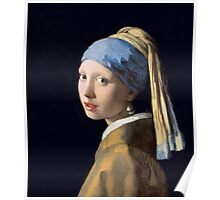 Johannes Vermeer - Girl with a Pearl Earring Poster