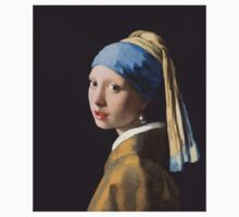Johannes Vermeer - Girl with a Pearl Earring One Piece - Short Sleeve
