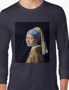 Johannes Vermeer - Girl with a Pearl Earring Long Sleeve T-Shirt