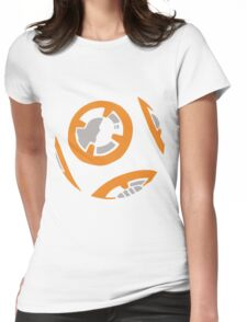 Orange and Grey Color Block Womens Fitted T-Shirt