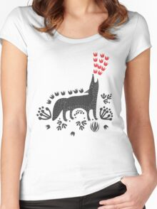 Wolf...  Women's Fitted Scoop T-Shirt