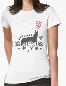 Wolf...  Womens Fitted T-Shirt