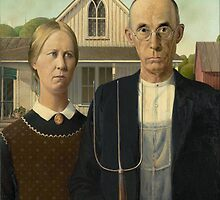 Grant Wood - American Gothic by mosfunky