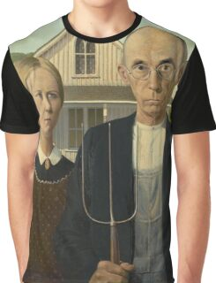 Grant Wood - American Gothic Graphic T-Shirt