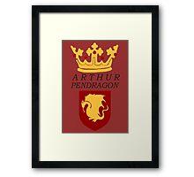 Arthur Pendragon Crest Print (BBC Merlin) Framed Print