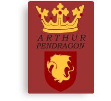 Arthur Pendragon Crest Print (BBC Merlin) Canvas Print