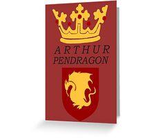Arthur Pendragon Crest Print (BBC Merlin) Greeting Card