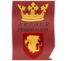 Arthur Pendragon Crest Print (BBC Merlin) Poster