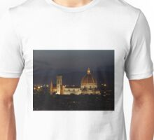 Basilica of Saint Mary of the Flower at Night Unisex T-Shirt