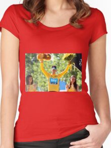 Bradley Wiggins 2012 Women's Fitted Scoop T-Shirt