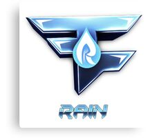 Faze Rain | Old Logo | White Background |  Canvas Print