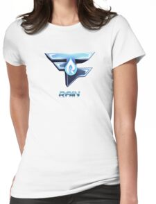 Faze Rain | Old Logo | White Background |  Womens Fitted T-Shirt