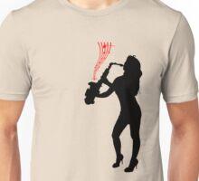 saxophone girl Unisex T-Shirt