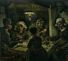 Vincent van Gogh's The Potato Eaters by mosfunky