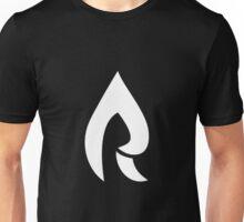 Faze Rain | Raindrop Logo | White | Black Background |  Unisex T-Shirt