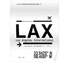 LAX Los Angeles International Airport Poster
