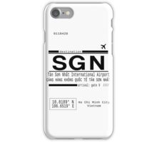 SGN Ho Chi Minh City International Airport Call Letters iPhone Case/Skin