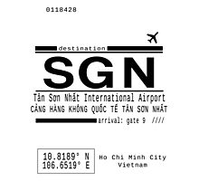 SGN Ho Chi Minh City International Airport Call Letters Photographic Print