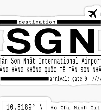 SGN Ho Chi Minh City International Airport Call Letters Sticker