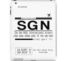 SGN Ho Chi Minh City International Airport Call Letters iPad Case/Skin