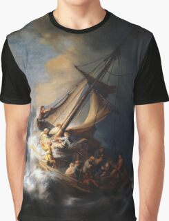 Rembrandt's The Storm on the Sea of Galilee Graphic T-Shirt