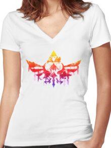 Skyward Rainbow v2 Women's Fitted V-Neck T-Shirt
