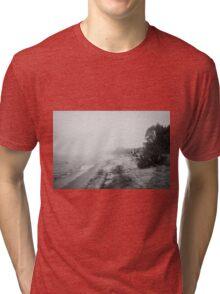 Foggy Beach Tri-blend T-Shirt