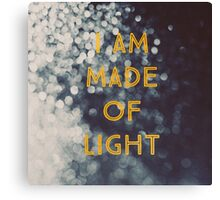 Made Of Light Canvas Print