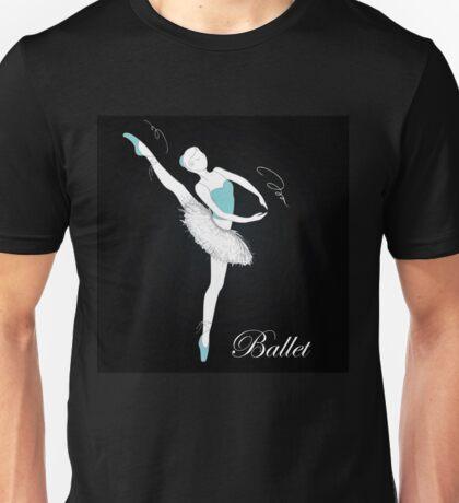 pretty ballet dancer on black Unisex T-Shirt