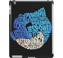 Pokemon - Blastoise - Typography iPad Case/Skin