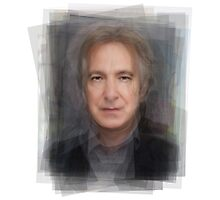 Alan Rickman Porrtrait Photographic Print