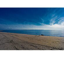 Blue Skies and Brown Sand Photographic Print
