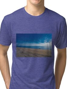 Blue Skies and Brown Sand Tri-blend T-Shirt