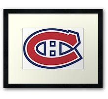 Montreal Canadiens logo Framed Print