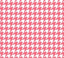 Houndstooth Pattern White and Pink phone case by snja