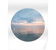 Watery Sunset Ocean Photography Poster