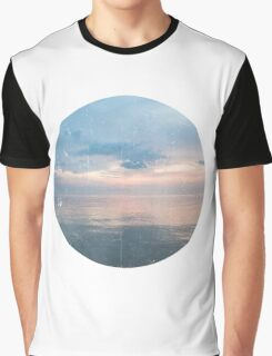 Watery Sunset Ocean Photography Graphic T-Shirt