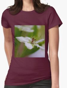Macro Korean Sun Pear Blossom 1 Womens Fitted T-Shirt